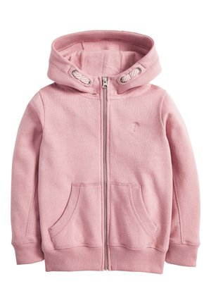 Zip-up hoodie - mottled light pink