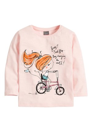 PINK GIRL CHARACTER T-SHIRT (6MTHS-7YRS) - Long sleeved top - pink