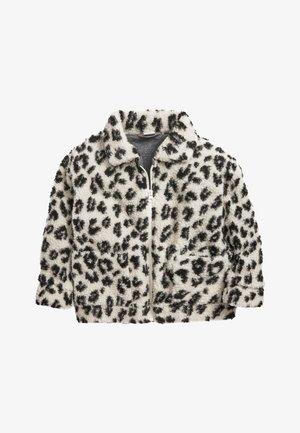 ECRU BORG - Fleece jacket - off-white/black