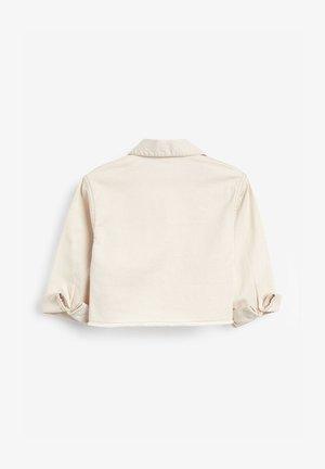 IVORY COTTON OVERSHIRT (3-16YRS) - Denim jacket - off-white