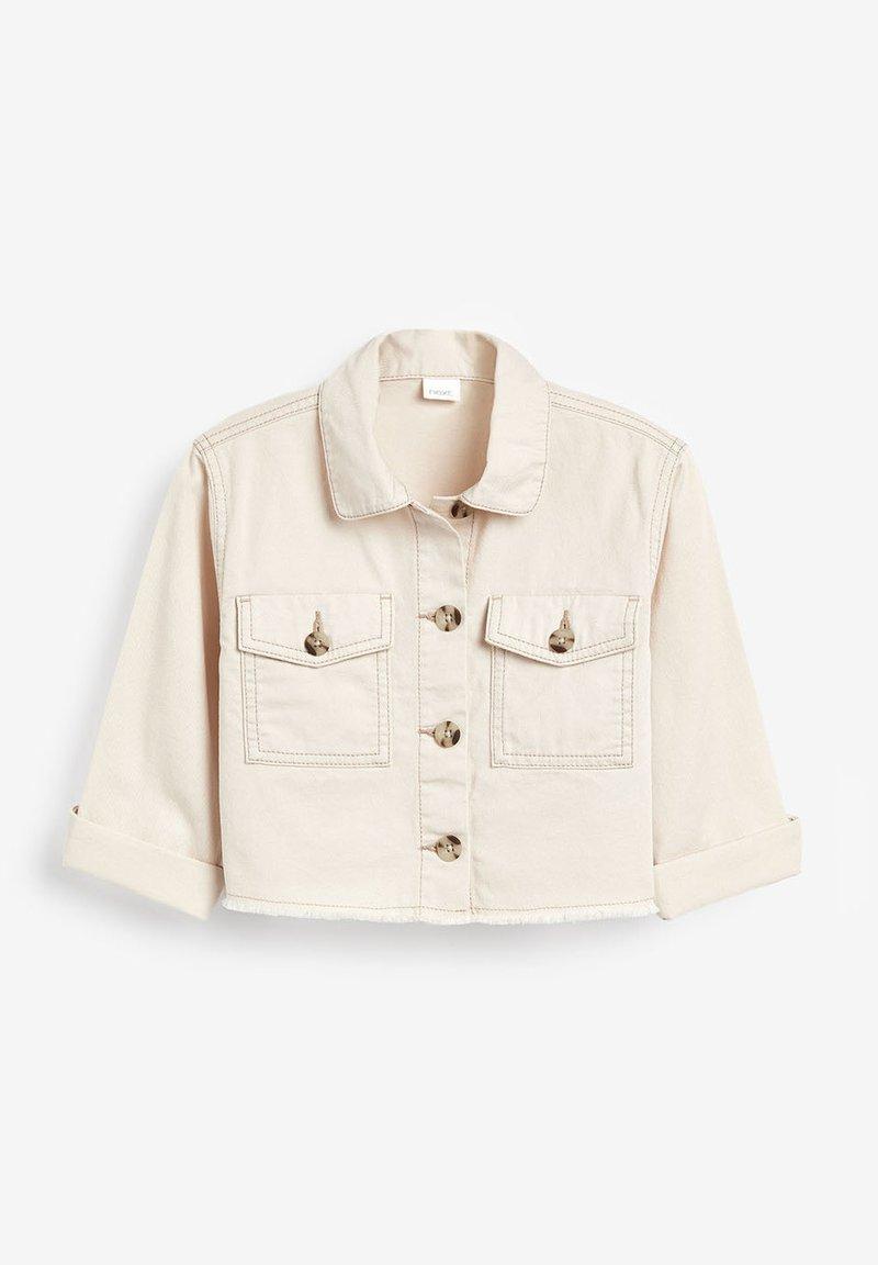 Next - IVORY COTTON OVERSHIRT (3-16YRS) - Denim jacket - off-white
