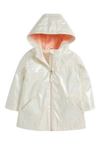 Next - GLITTER  - Waterproof jacket - white - 0