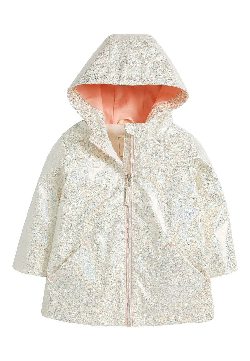 Next - GLITTER  - Waterproof jacket - white