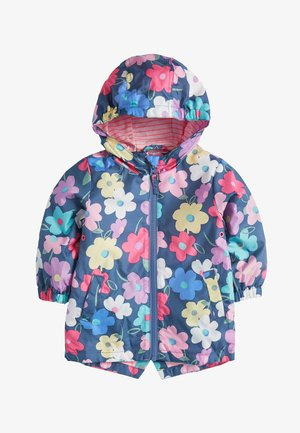 NAVY FLORAL CAGOULE (3MTHS-7YRS) - Summer jacket - blue