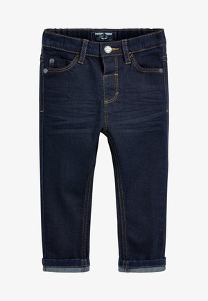 Straight leg jeans - mottled royal blue