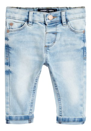 Straight leg jeans - bleached denim