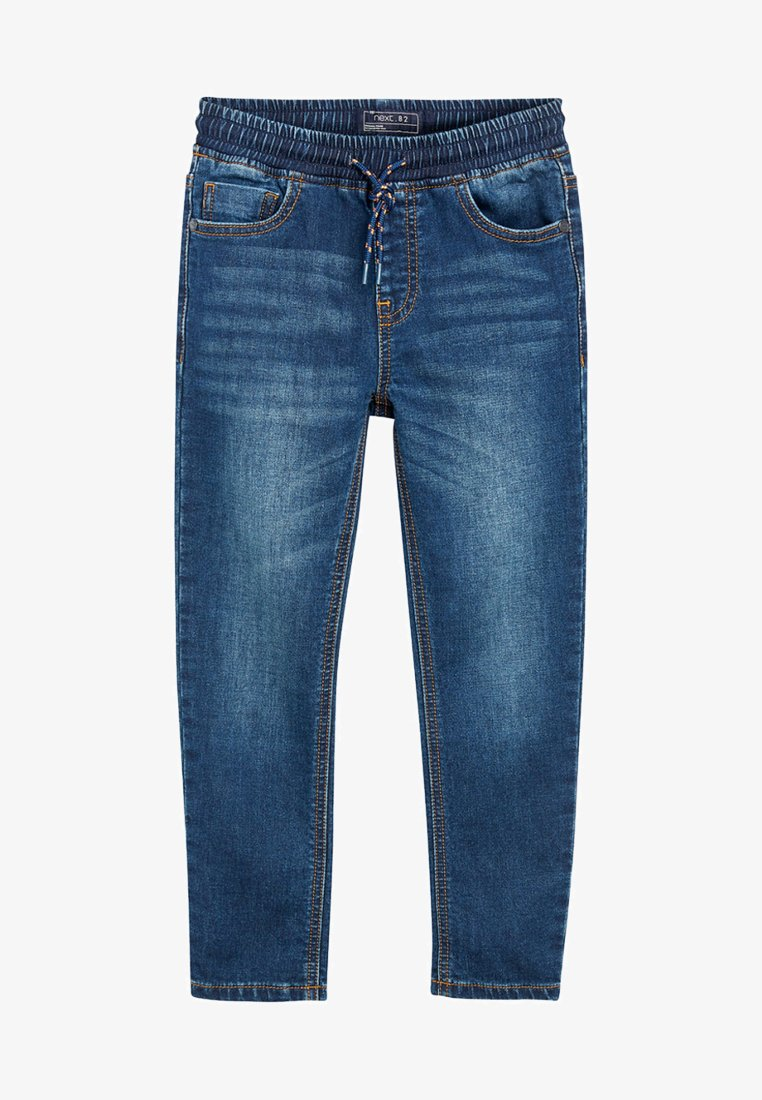 Next - VINTAGE JERSEY LOOK DENIM PULL-ON JEANS (3-16YRS) - Straight leg jeans - blue