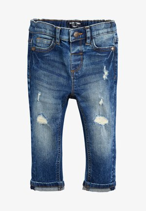 DISTRESSED  - Vaqueros slim fit - blue