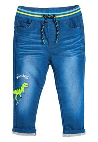 Next - BRIGHT BLUE CHARACTER JEANS (3MTHS-7YRS) - Straight leg jeans - blue - 0