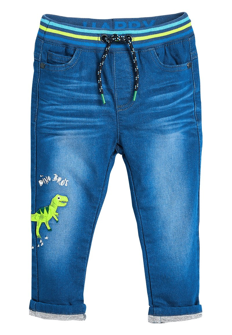 Next - BRIGHT BLUE CHARACTER JEANS (3MTHS-7YRS) - Straight leg jeans - blue
