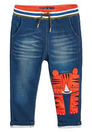 MID BLUE TIGER CHARACTER JEANS (3MTHS-7YRS) - Broek - blue