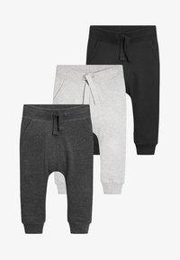 Next - 3 PACK - Pantalones deportivos - black/grey - 0