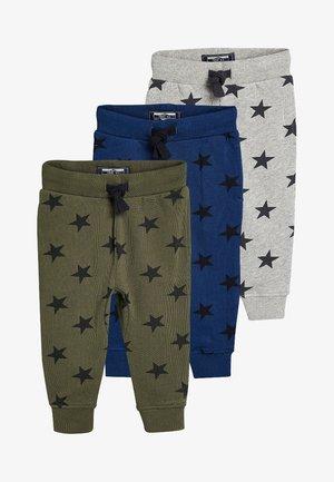 Spodnie materiałowe - blue/light grey/khaki
