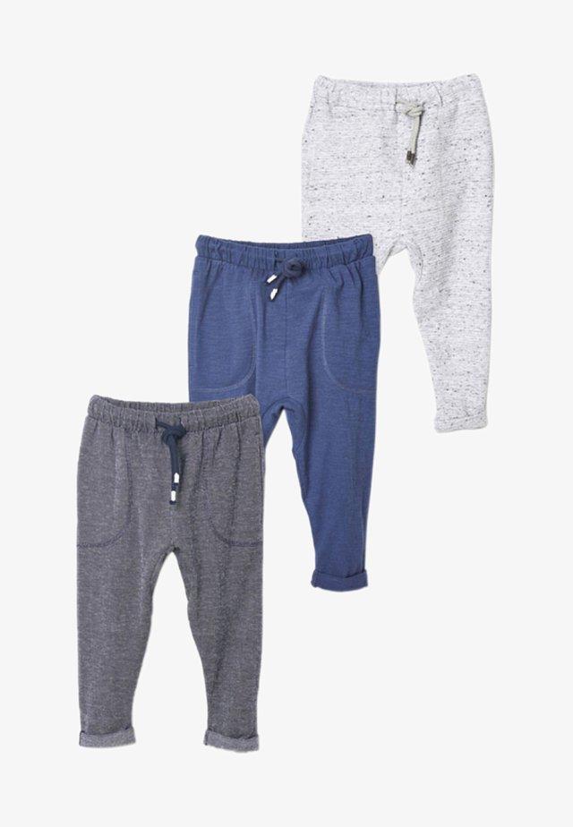 3PACK - Spodnie treningowe - blue