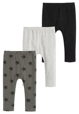 DIGGER 3 PACK LEGGINGS (3MTHS-7YRS) - Leggings - Trousers - black