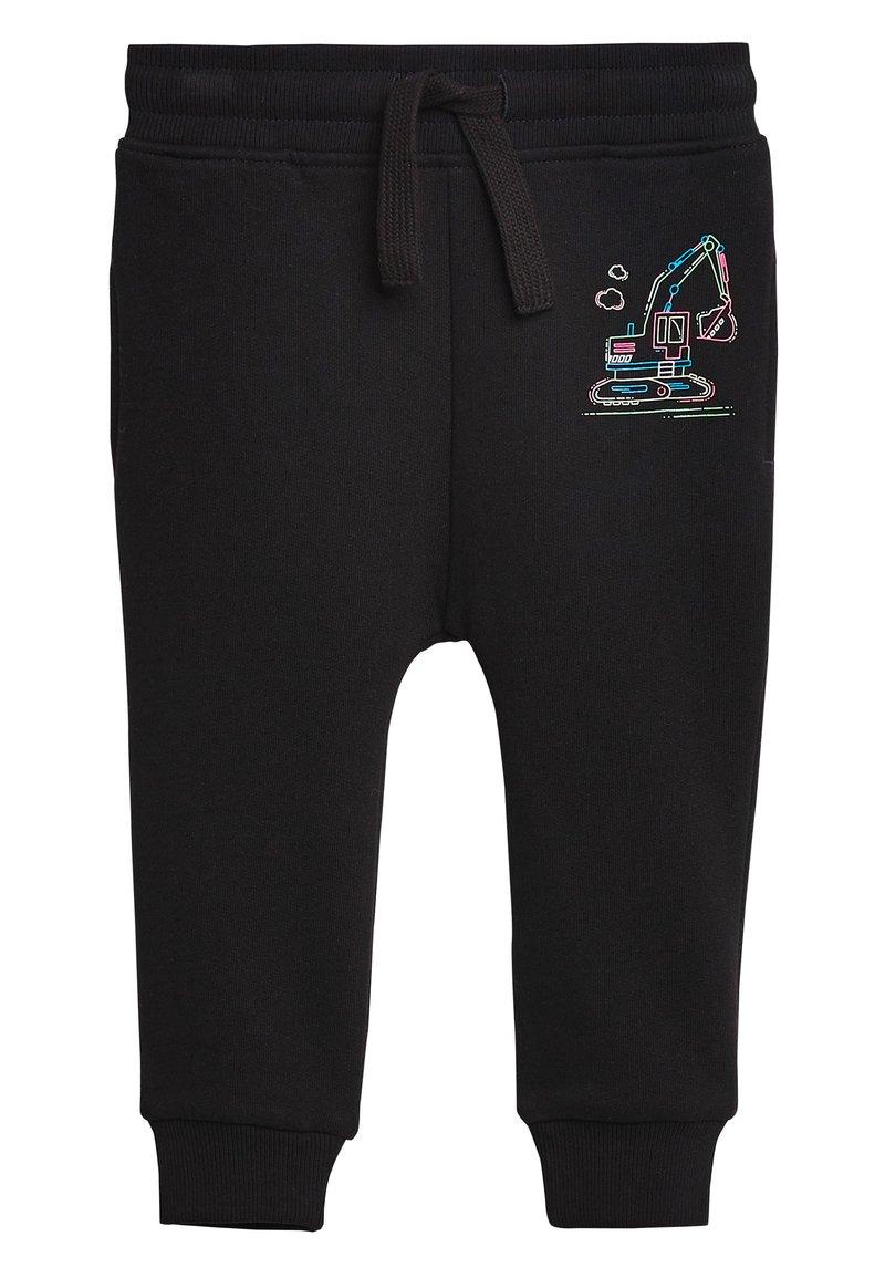 Next - BLACK FLURO DIGGER JOGGERS (3MTHS-7YRS) - Pantaloni sportivi - black