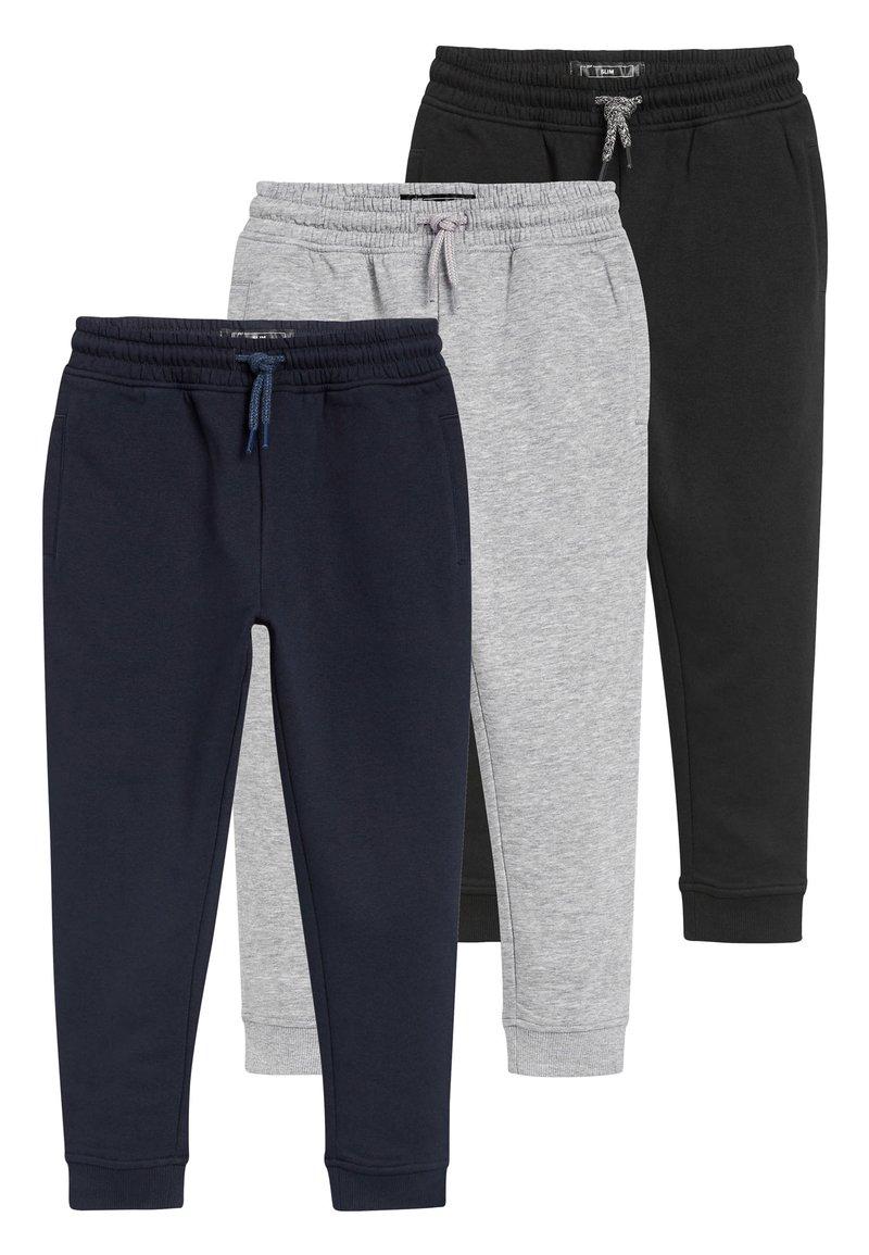 Next - MULTI BLACK SLIM FIT 3 PACK JOGGERS (3-16YRS) - Teplákové kalhoty - blue