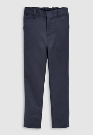 NAVY FLAT FRONT SLIM FIT TROUSERS (3-16YRS) - Kalhoty - mottled blue