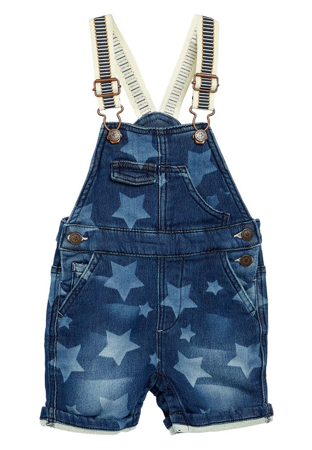 MID BLUE JERSEY STAR DUNGAREES (3MTHS-7YRS) - Latzhose - blue
