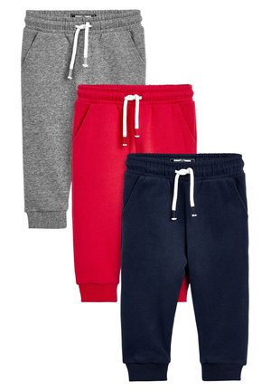 RED/GREY/NAVY 3 PACK SOFT TOUCH JOGGERS (3MTHS-7YRS) - Trainingsbroek - blue