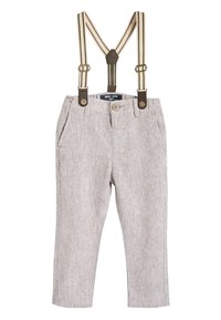 Next - STONE FORMAL TROUSERS WITH BRACES (3MTHS-7YRS) - Kalhoty - off-white - 0