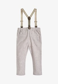 Next - STONE FORMAL TROUSERS WITH BRACES (3MTHS-7YRS) - Kalhoty - off-white - 1