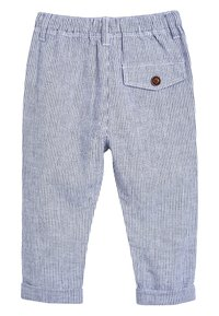 Next - STRIPE/PLAIN 2 PACK LINEN BLEND TROUSERS (3MTHS-7YRS) - Pantalon de survêtement - blue - 2