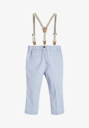 BLUE FORMAL TROUSERS WITH BRACES (3MTHS-7YRS) - Kalhoty - blue