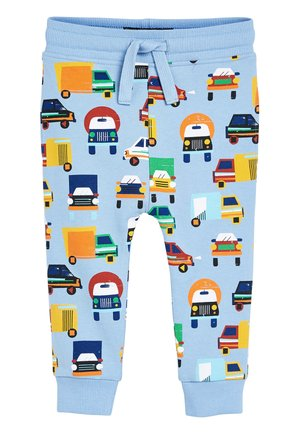 BLUE CAR ALL OVER PRINT JOGGERS (3MTHS-7YRS) - Tracksuit bottoms - blue