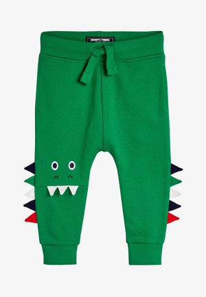 GREEN DINO KNEE DETAIL JOGGERS (3MTHS-7YRS) - Tracksuit bottoms - green