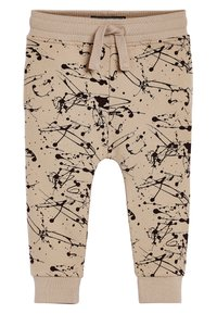 Next - STONE CEMENT SPLAT PRINT JOGGERS (3MTHS-7YRS) - Tracksuit bottoms - beige - 0