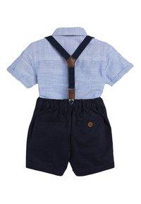 Next - BLUE SHIRT, SHORTS, BOW TIE AND BRACES SET (3MTHS-7YRS) - Shirt - blue - 1