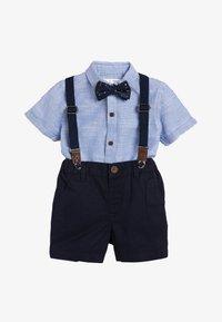 Next - BLUE SHIRT, SHORTS, BOW TIE AND BRACES SET (3MTHS-7YRS) - Shirt - blue - 0