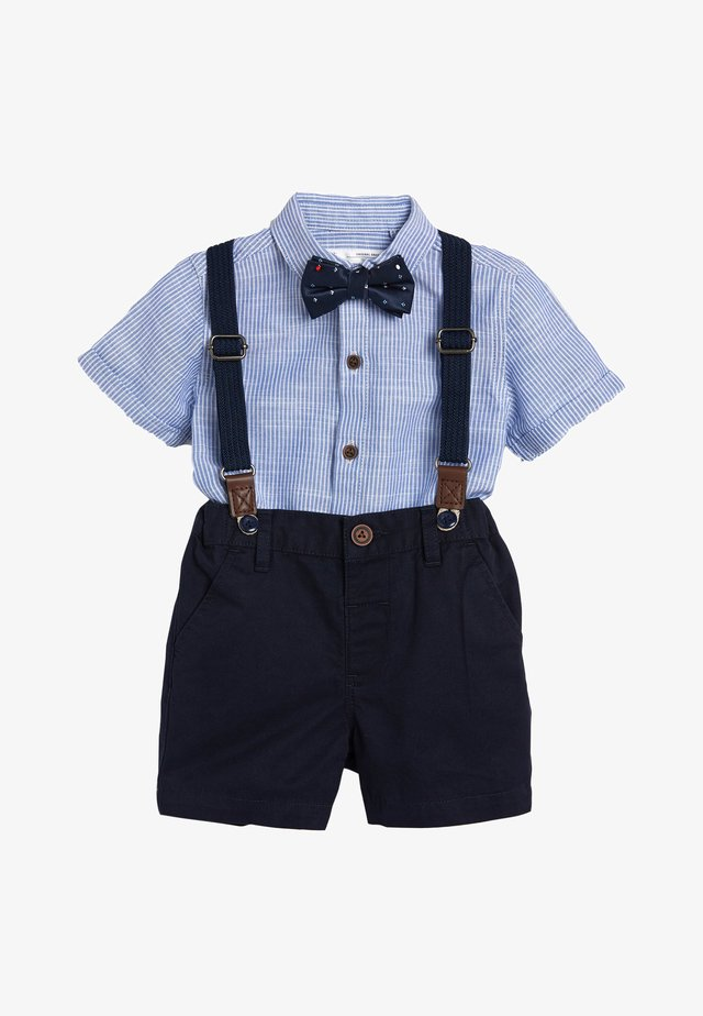 BLUE SHIRT, SHORTS, BOW TIE AND BRACES SET (3MTHS-7YRS) - Shirt - blue