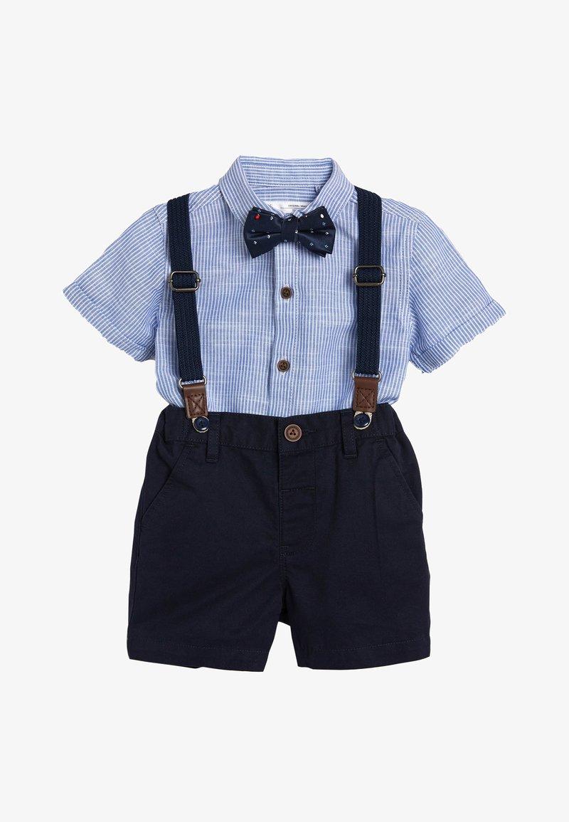 Next - BLUE SHIRT, SHORTS, BOW TIE AND BRACES SET (3MTHS-7YRS) - Shirt - blue