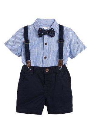 BLUE SHIRT, SHORTS, BOW TIE AND BRACES SET (3MTHS-7YRS) - Shirt - blue