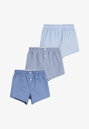 BLUE 3 PACK WOVEN TRUNKS (2-16YRS) - Boxer shorts - blue