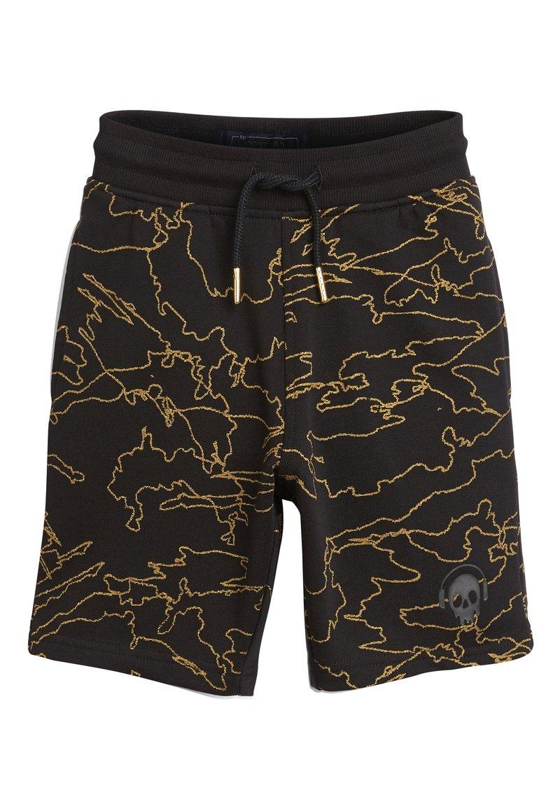 Next - BLACK/GOLD ALL OVER PRINT SHORTS (3-16YRS) - Shorts - black