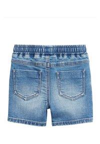 Next - DENIM MID BLUE CHARACTER PULL ON JERSEY SHORTS (3MTHS-7YRS) - Denim shorts - blue - 1