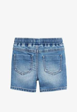 DENIM MID BLUE CHARACTER PULL ON JERSEY SHORTS (3MTHS-7YRS) - Farkkushortsit - blue
