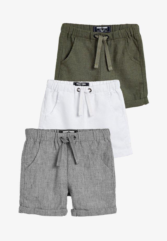 MULTI 3 PACK LINEN BLEND SHORTS (3MTHS-7YRS) - Shorts - grey