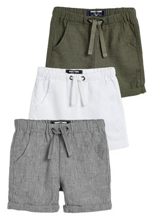 MULTI 3 PACK LINEN BLEND SHORTS (3MTHS-7YRS) - Shorts - grey