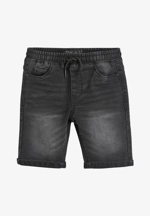 BLACK JERSEY JEAN SHORTS (3-16YRS) - Denim shorts - black