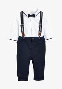 Next - Kalhoty - dark blue/white - 0