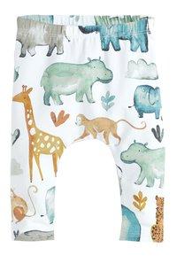 Next - SET - Leggings - Trousers - white/green/blue - 3