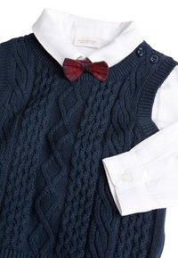 Next - NAVY KNITTED TANK TOP, SHIRTBODY AND BOW TIE SET (0MTHS-2YRS) - Pullover - blue - 3