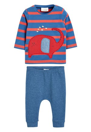 RED ELEPHANT T-SHIRT AND JOGGERS TWO PIECE SET (0MTHS-2YRS) - Träningsbyxor - red