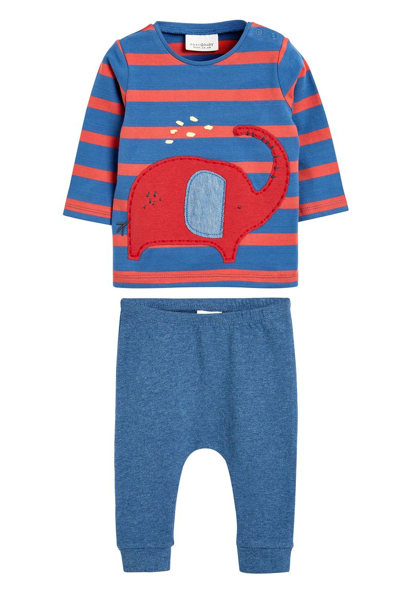 Next - RED ELEPHANT T-SHIRT AND JOGGERS TWO PIECE SET (0MTHS-2YRS) - Tracksuit bottoms - red