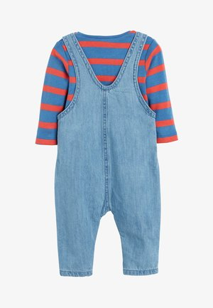 BRIGHT DENIM CHARACTER DUNGAREE AND BODYSUIT SET (0MTHS-2YRS) - Salopette - blue