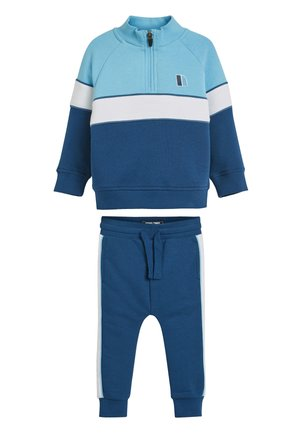 BLUE FUNNEL NECK CREW AND JOGGERS SET (3MTHS-7YRS) - Sweatshirts - blue